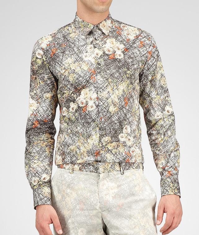 BOTTEGA VENETA Floral Print Cotton Shirt Tops, tees and shirts U fp