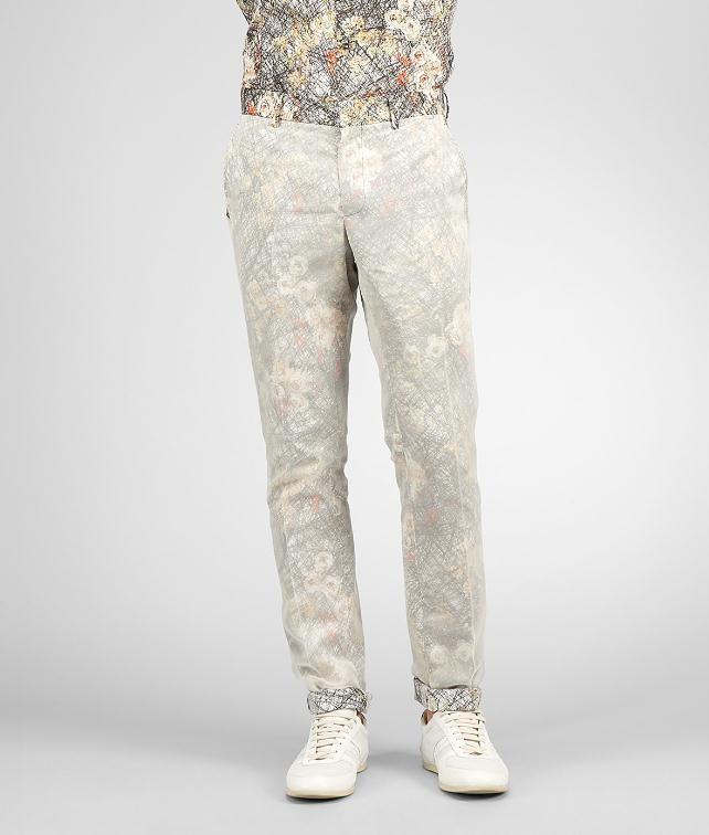 BOTTEGA VENETA Floral Print Cotton Organza Pant Jeans or Pant U fp