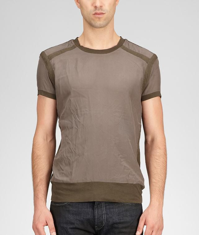 BOTTEGA VENETA Silk Jersey T-Shirt Tops, tees and shirts U fp