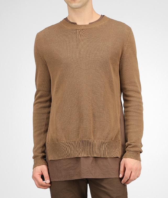 BOTTEGA VENETA Crepe Cotton Sweater Tops, tees and shirts U fp