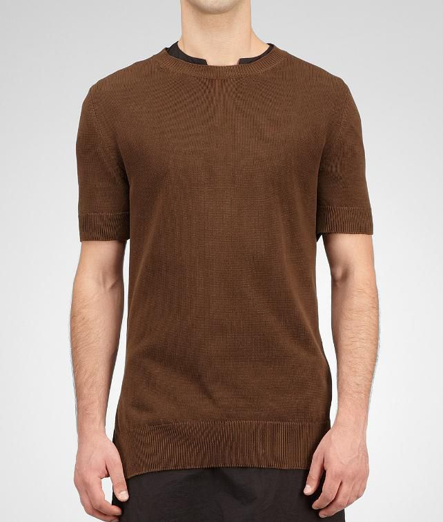 BOTTEGA VENETA Crepe Cotton Sweater Tops, tees and shirts U fp