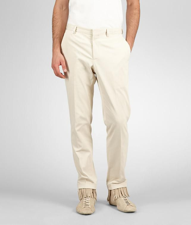 BOTTEGA VENETA Cotton Tecno Gabardine Pant Trouser or jeans U fp