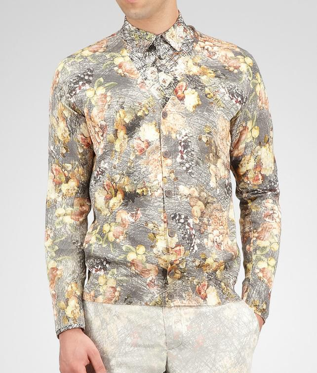 BOTTEGA VENETA Floral Print Silk Sweater Tops, tees and shirts U fp
