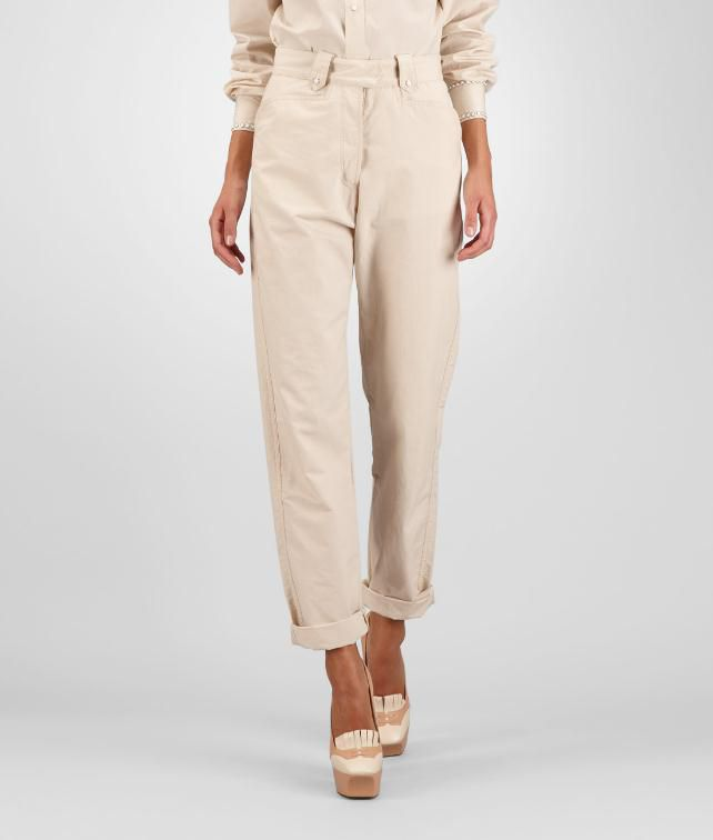BOTTEGA VENETA Cotton Linen Trousers Skirt or pant D fp