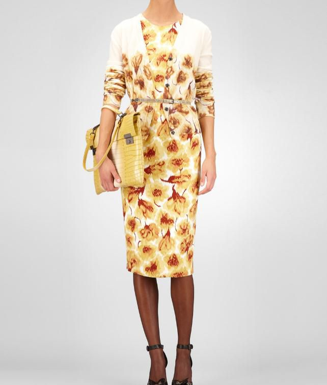 BOTTEGA VENETA Crepe Tulip Print Dress Dress D fp