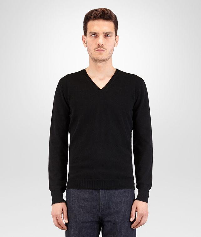 BOTTEGA VENETA SWEATER IN NERO CASHMERE Knitwear U fp