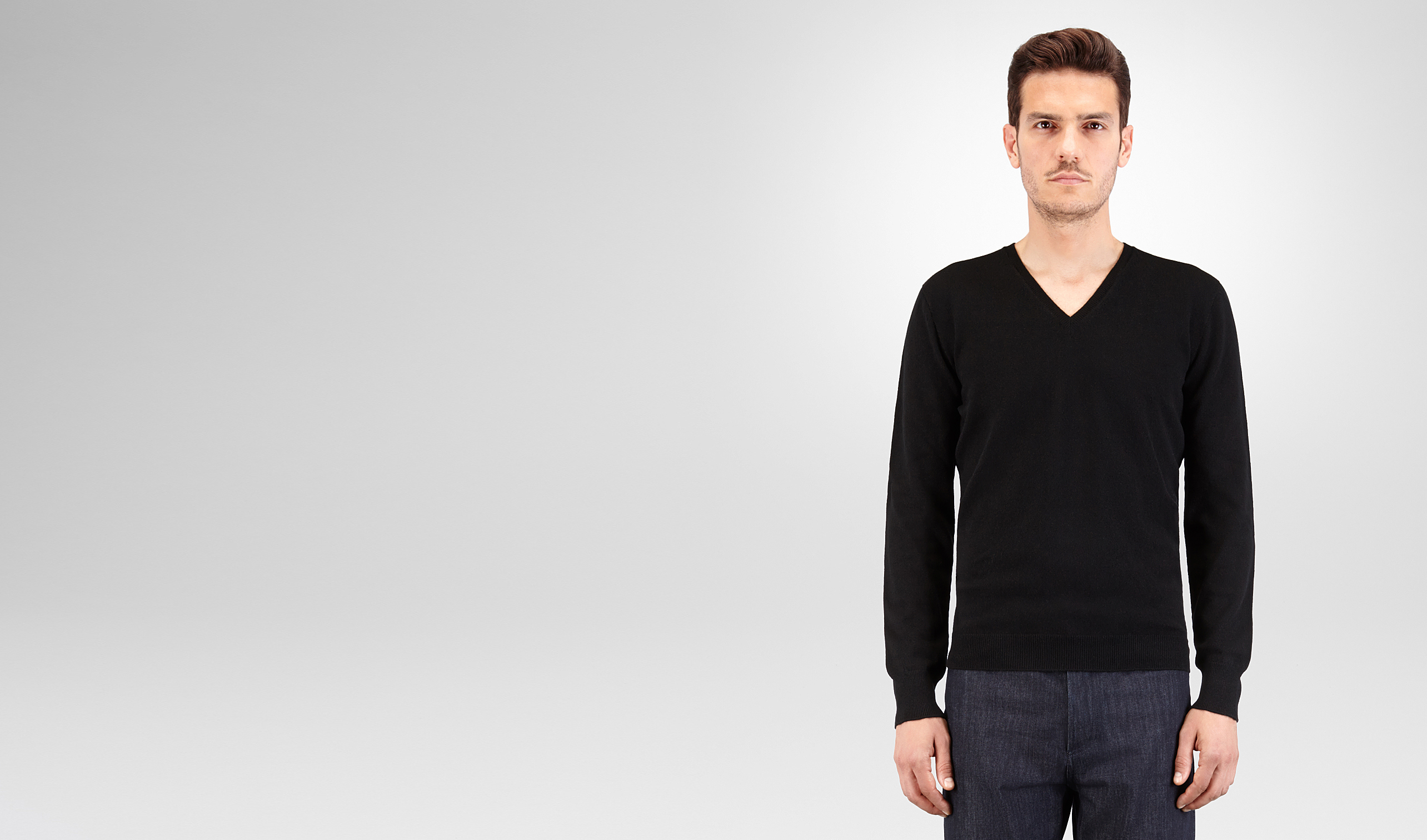 BOTTEGA VENETA Knitwear U SWEATER IN NERO CASHMERE pl