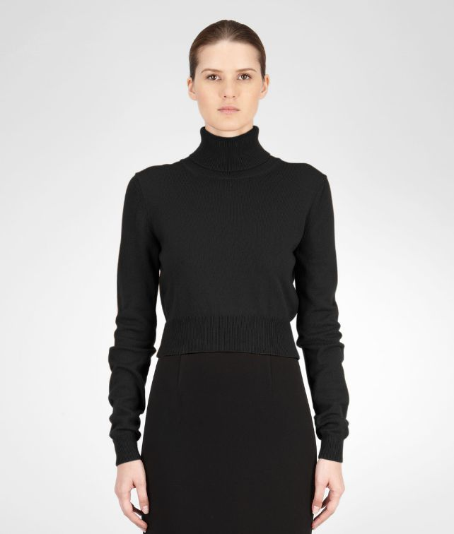 BOTTEGA VENETA SWEATER IN NERO CASHMERE Knitwear or Top or Shirt D fp