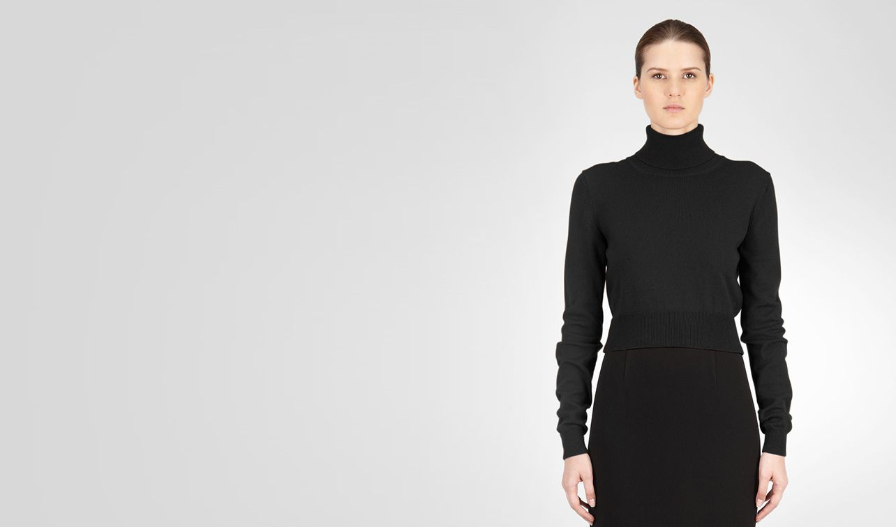BOTTEGA VENETA Knitwear or Top or Shirt D SWEATER IN NERO CASHMERE pl