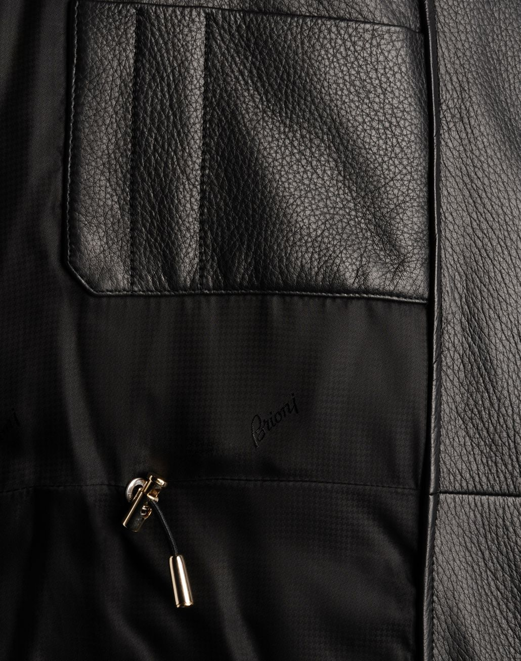 BRIONI LEATHER GOOSE DOWN Outerwear U a