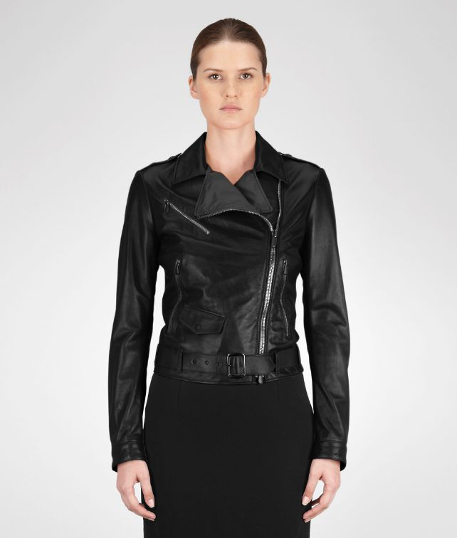 BOTTEGA VENETA JACKET IN NERO LAMBLEATHER Coat or Jacket D fp