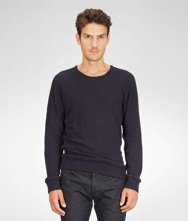 BOTTEGA VENETA T-Shirt aus leichtem, doppeltem Jersey Dark Navy Polo & T-Shirt U fp