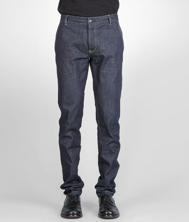 BOTTEGA VENETA Denim Dark Navy Row Indigo Pantaloni e Jeans U fp