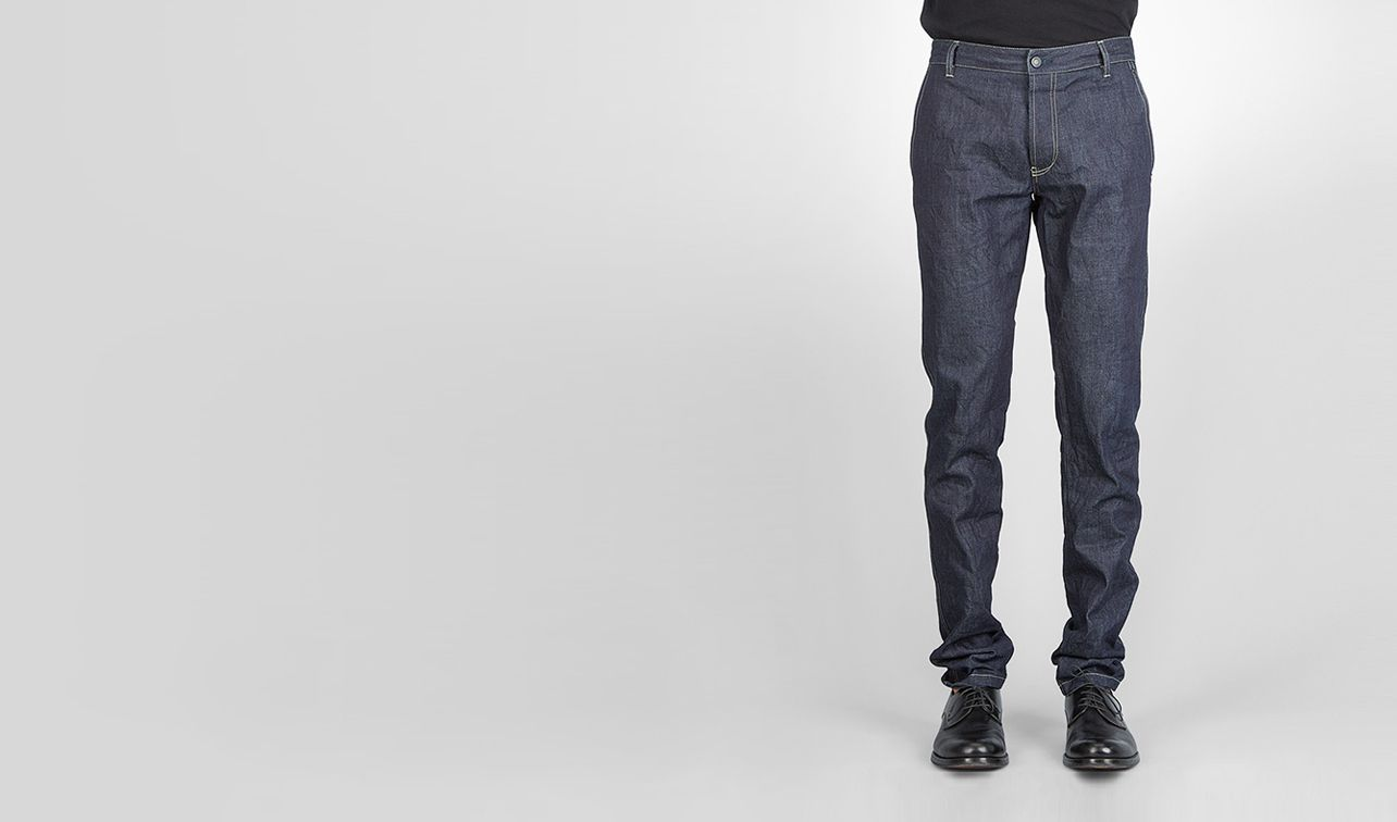 BOTTEGA VENETA Trouser or jeans U Dark Navy Row Indigo Denim pl