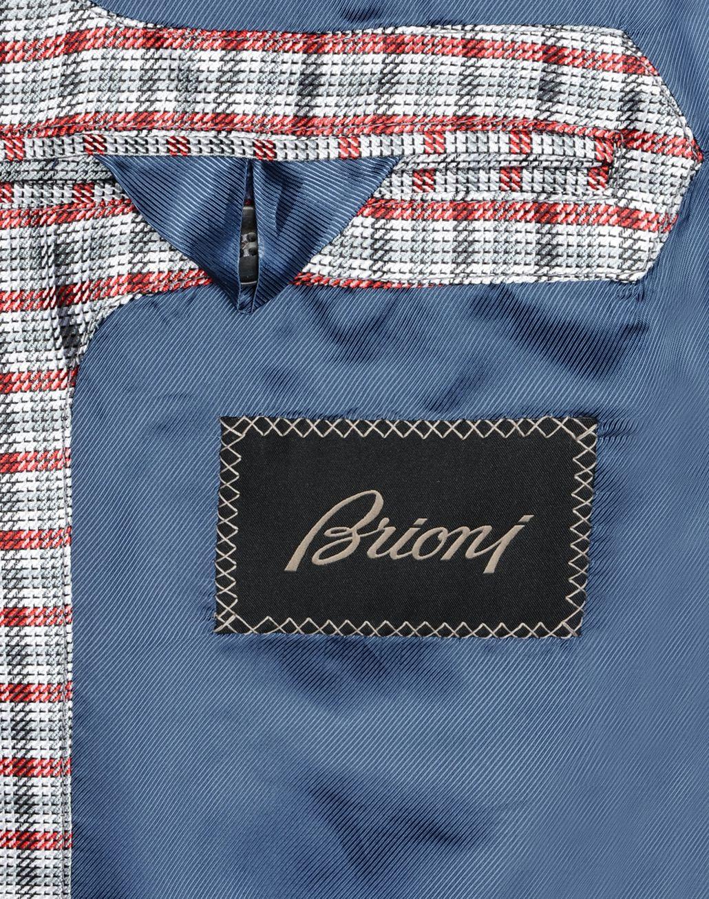 BRIONI SILK CHECK BLOUSON Outerwear U a