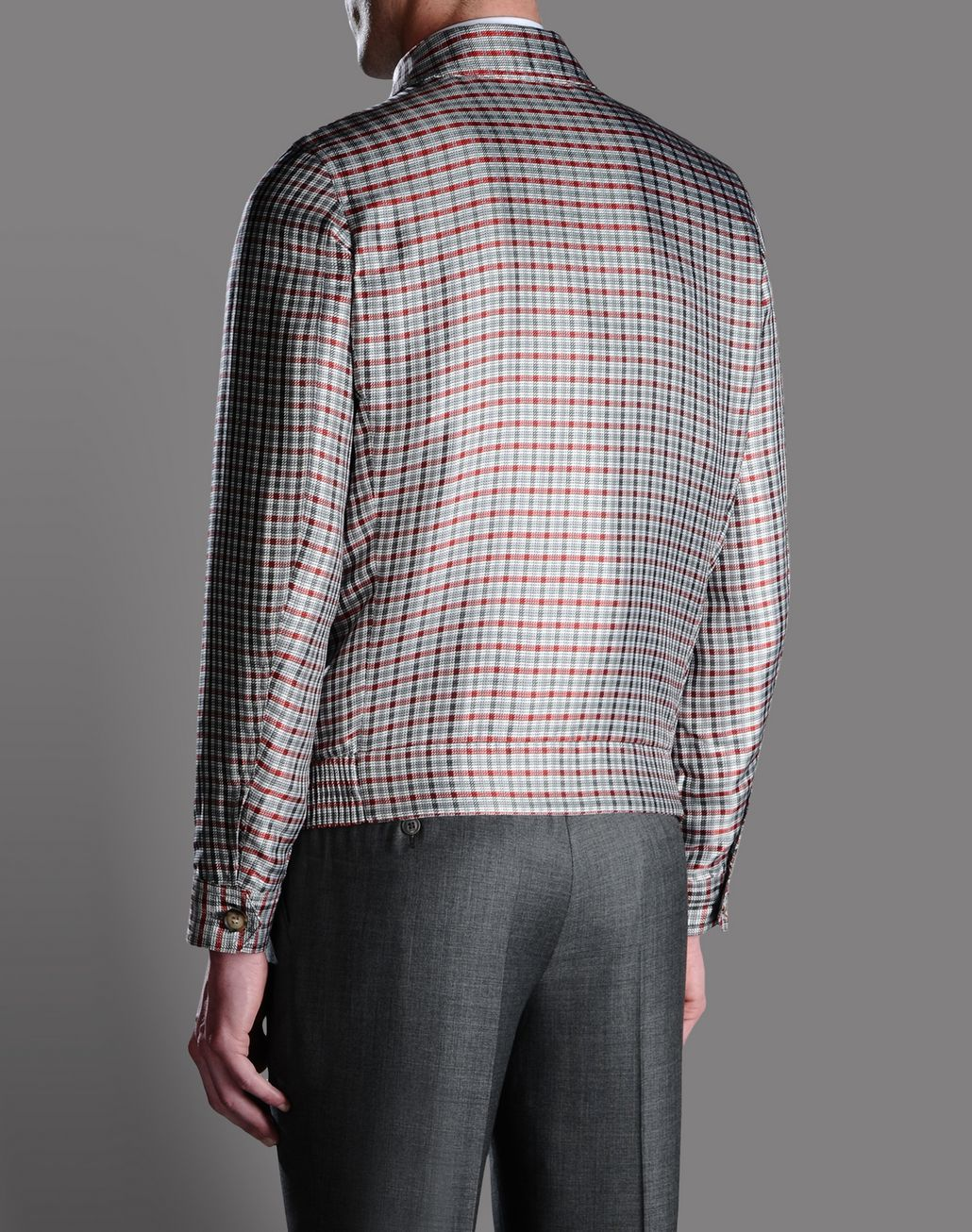 BRIONI SILK CHECK BLOUSON Outerwear U r