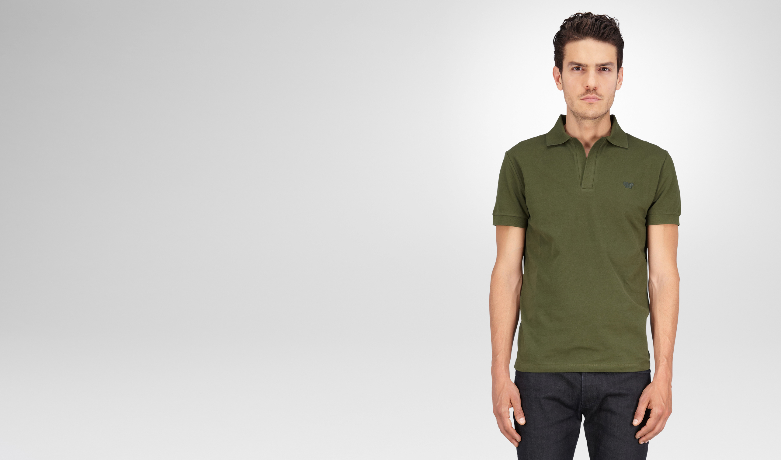 BOTTEGA VENETA Polo And Tee U Sergeant Solid Piquet Polo pl