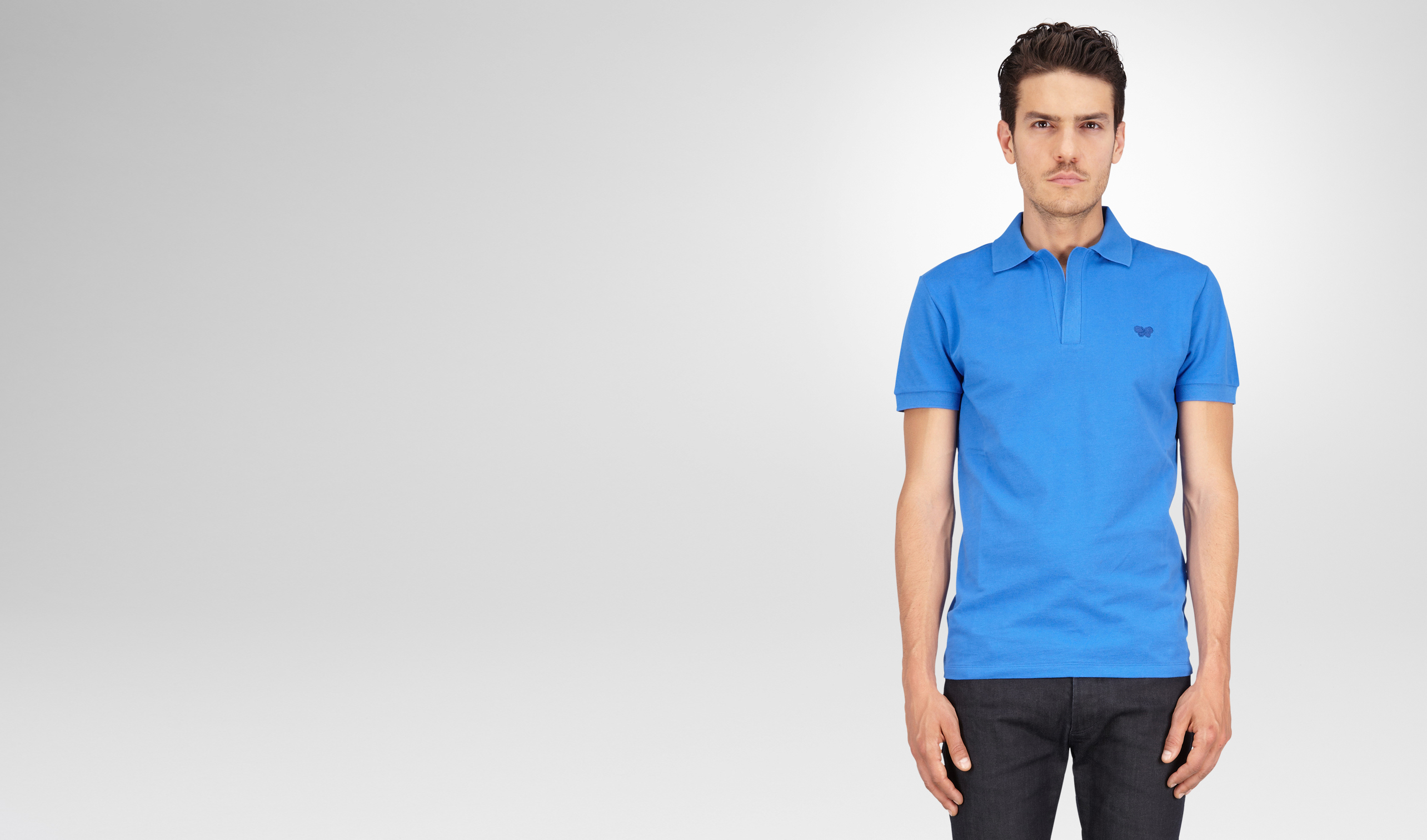 BOTTEGA VENETA Polo & T-Shirt U POLO SIGNAL BLUE IN PIQUET  pl