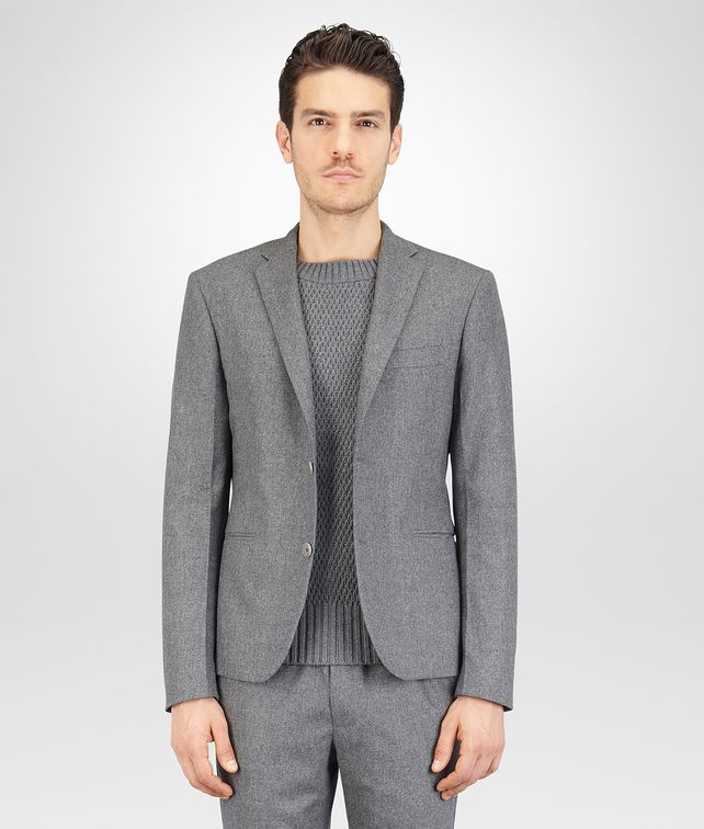 BOTTEGA VENETA New Light Grey Melange Reagle Flannel Jacket Formalwear or shirt U fp