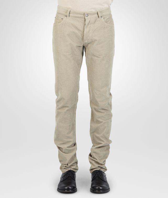 BOTTEGA VENETA Sand Summer Velvet Corduroy Pant Trouser or jeans U fp