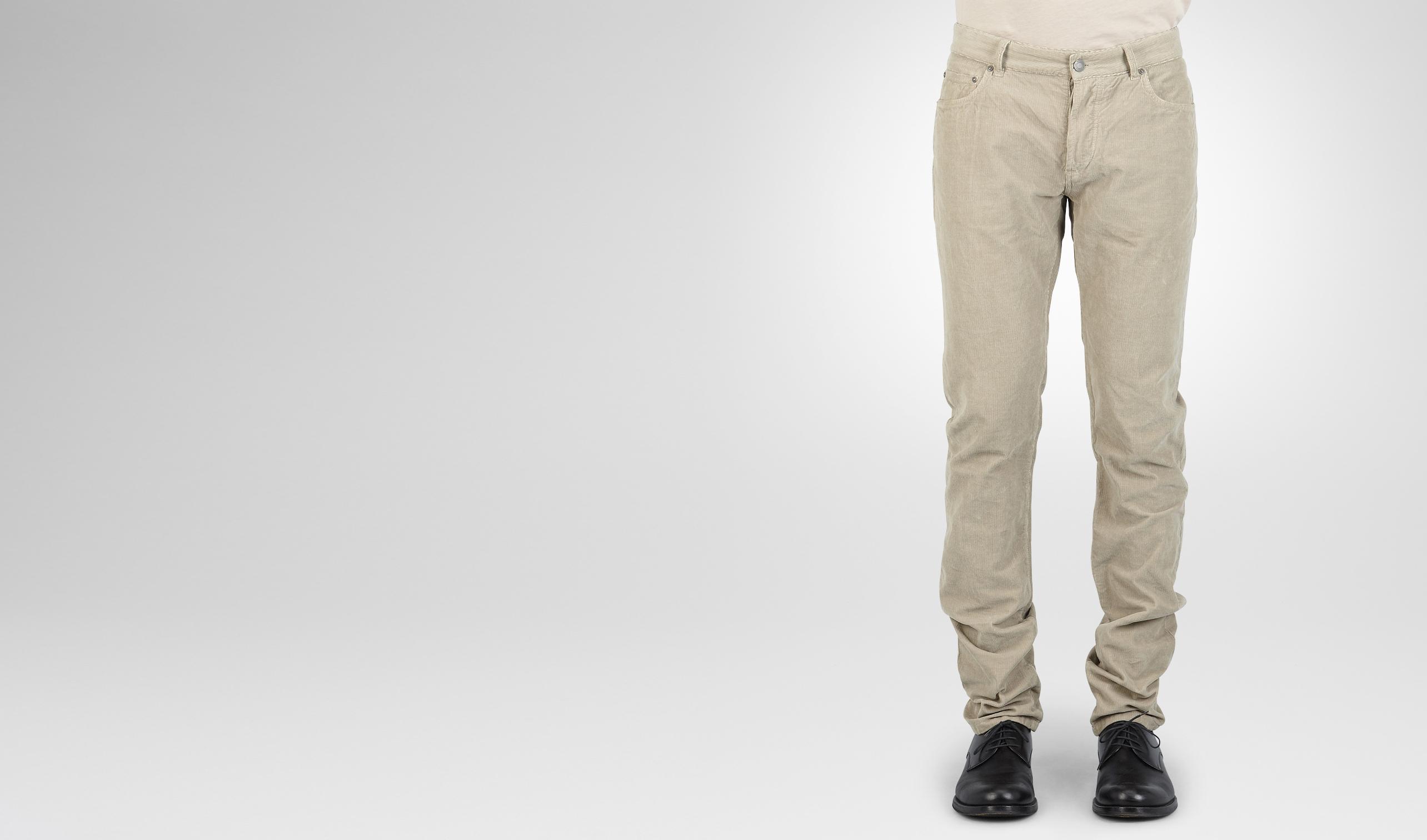 BOTTEGA VENETA Trouser or jeans U Sand Summer Velvet Corduroy Pant pl