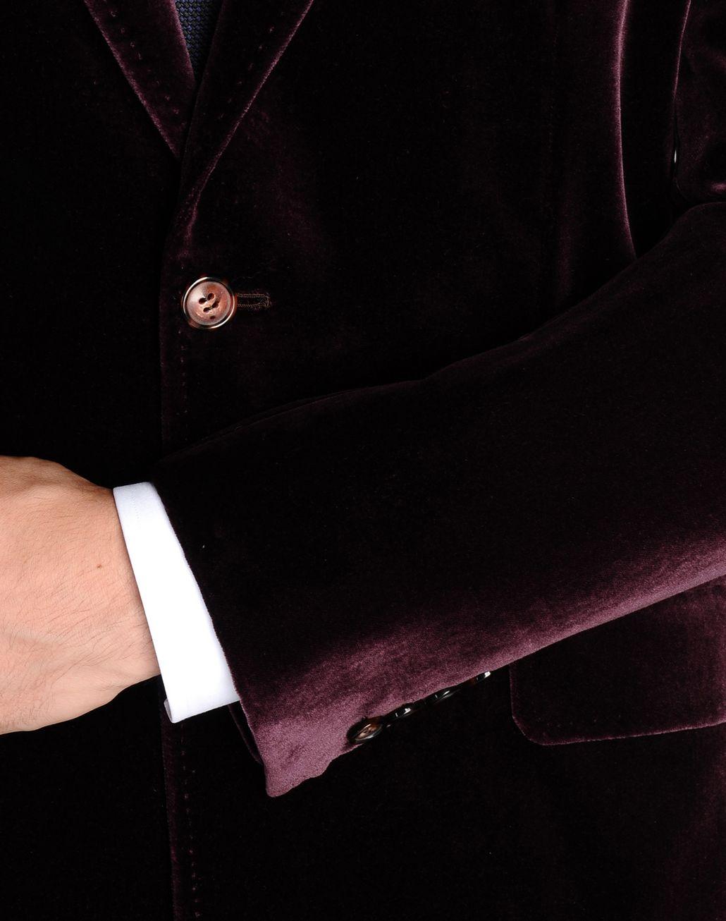 BRIONI burgundy velvet jacket with peaked lapels Suits & Jackets U e