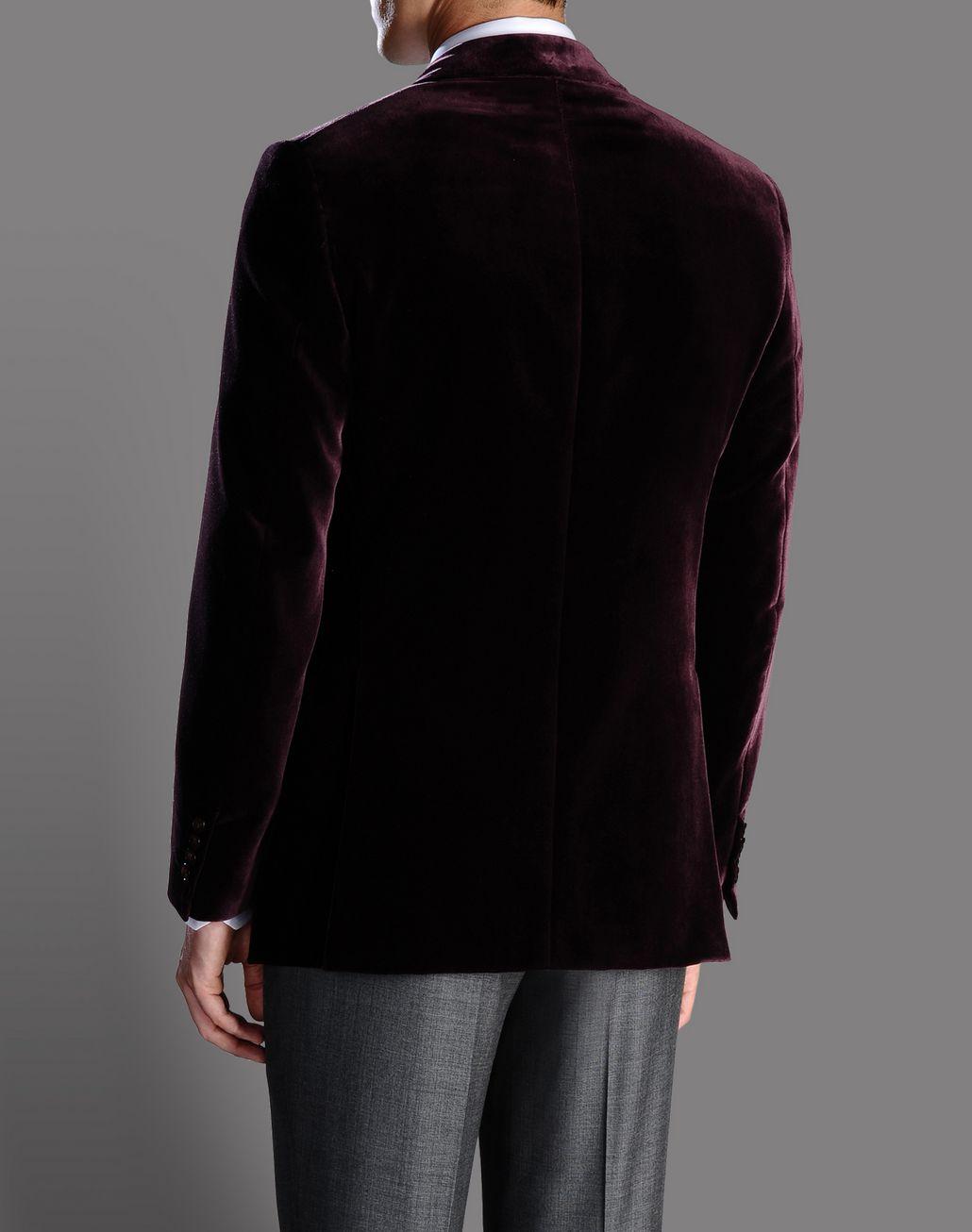 BRIONI burgundy velvet jacket with peaked lapels Suits & Jackets U r