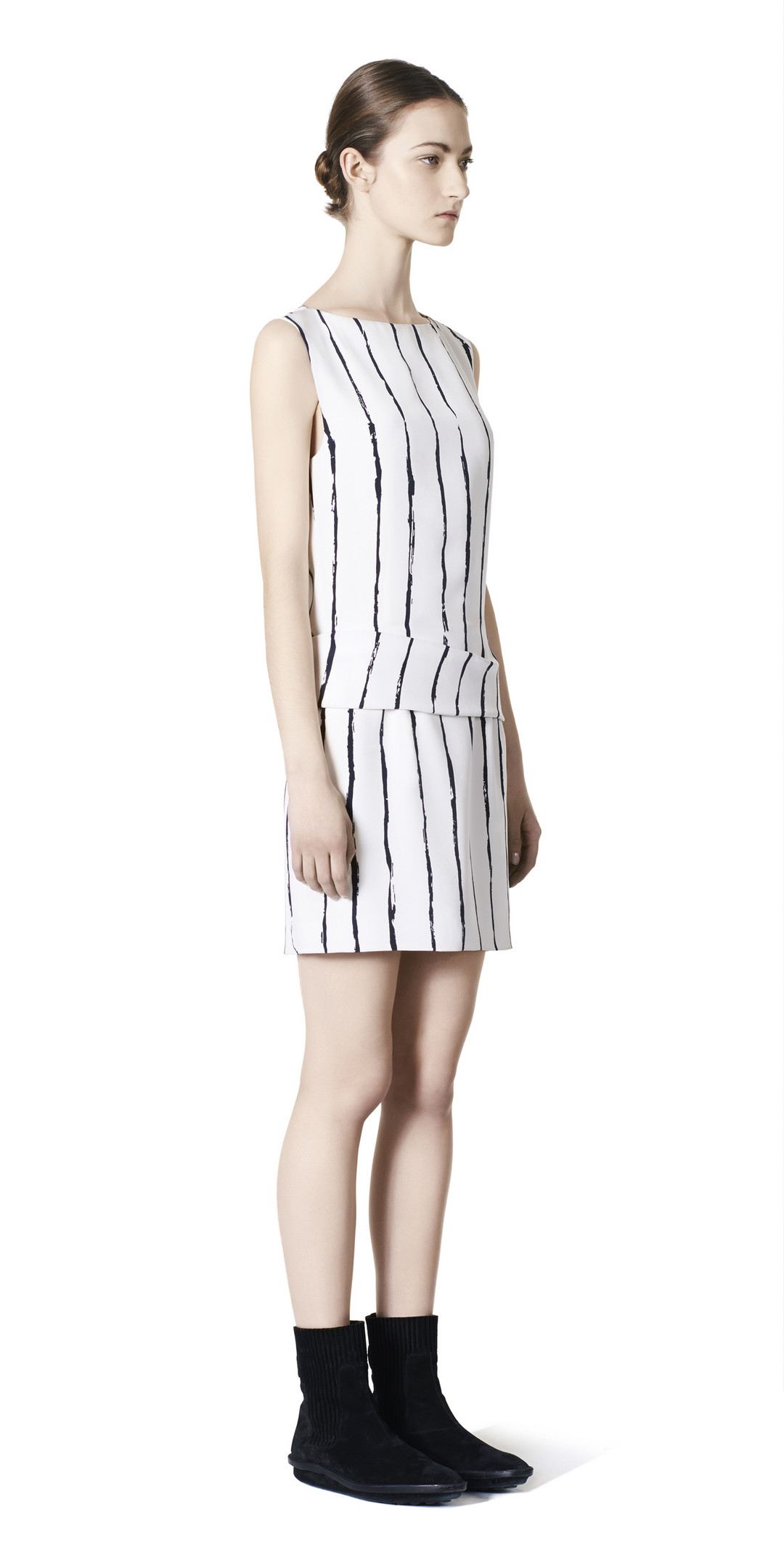 BALENCIAGA Balenciaga Edition Stripes Drapy Dress Dress D f