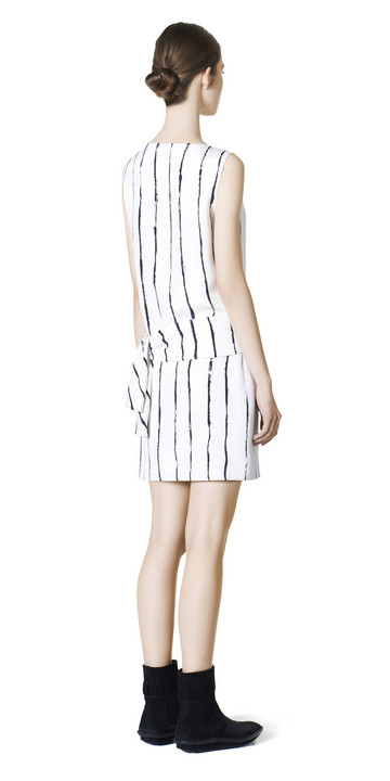 BALENCIAGA Dress D Balenciaga Edition Stripes Drapy Dress f