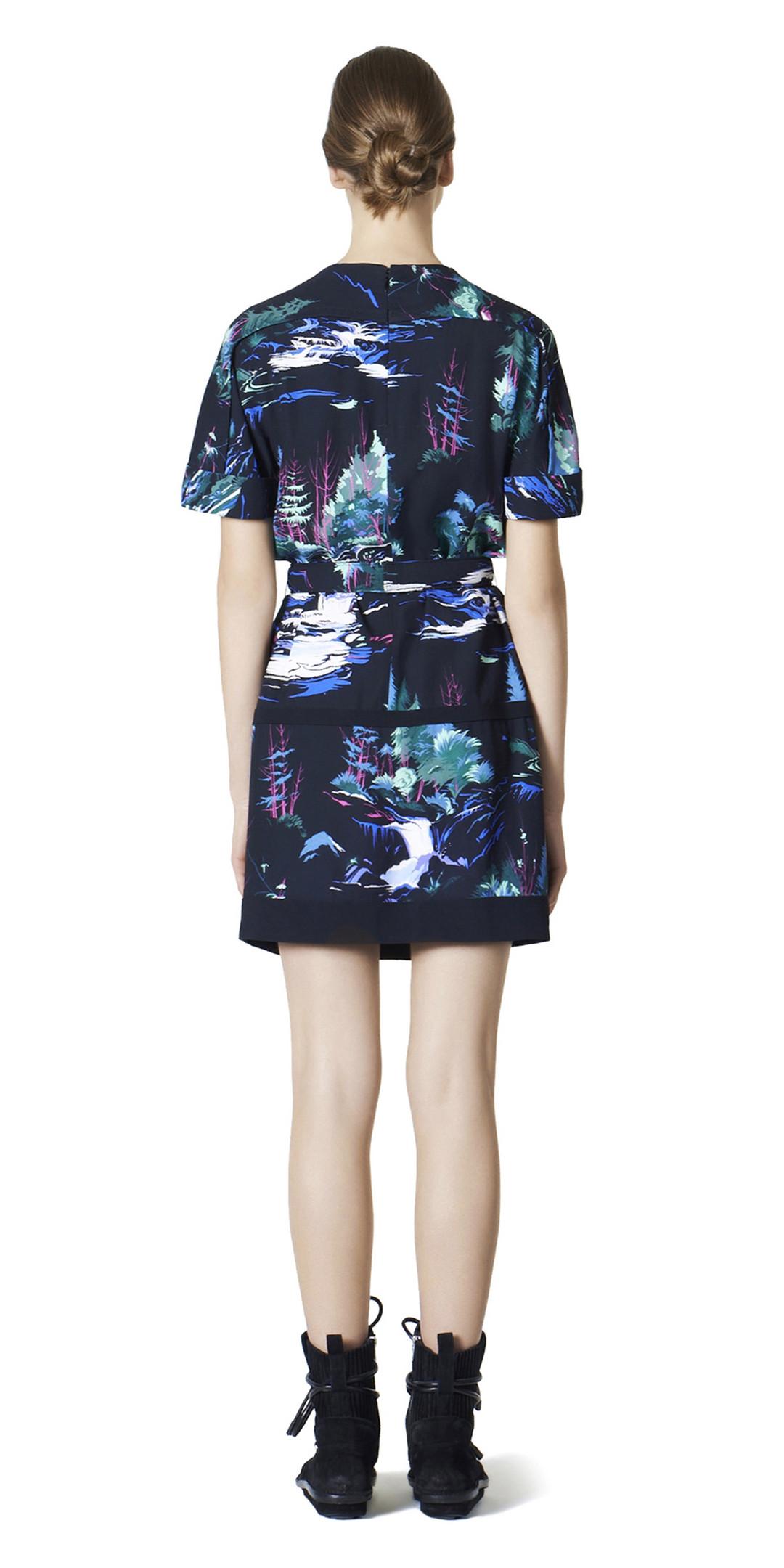BALENCIAGA Dress D Balenciaga Landscape Belted Dress i