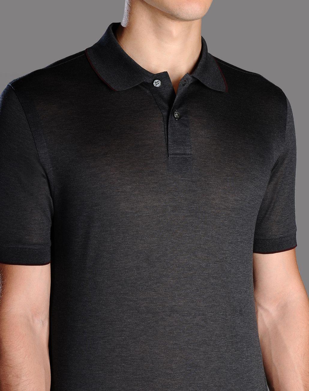 BRIONI cotton pique polo shirt T-Shirts & Polos U d