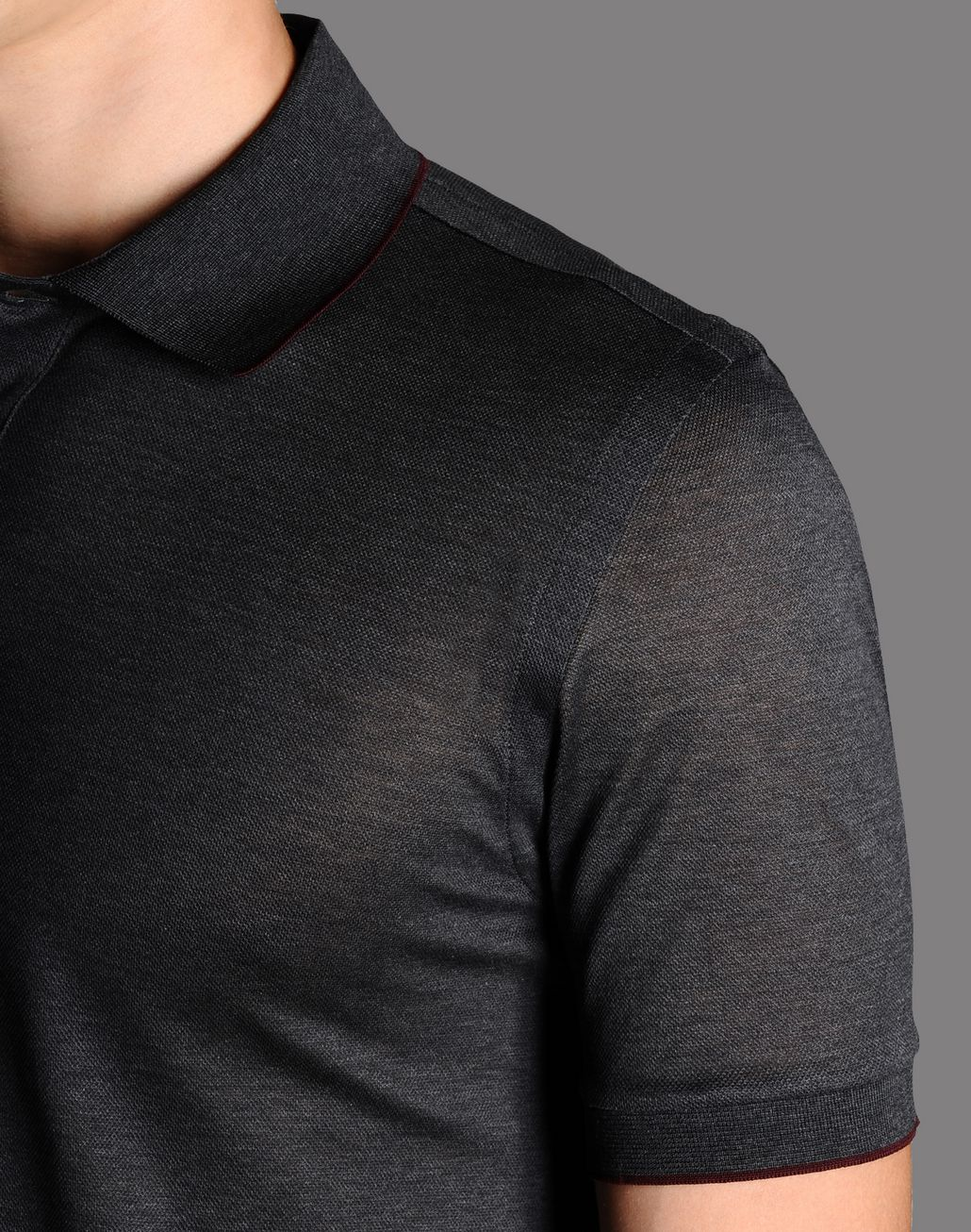 BRIONI cotton pique polo shirt T-Shirts & Polos U e