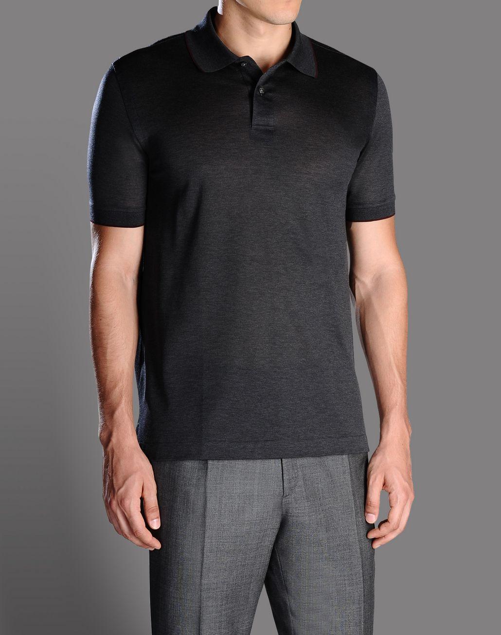 BRIONI cotton pique polo shirt T-Shirts & Polos U f