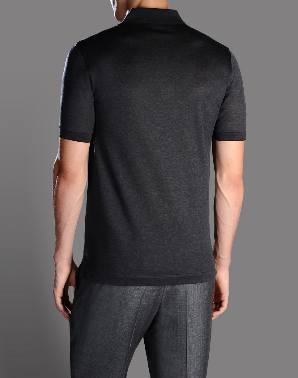 BRIONI cotton pique polo shirt T-Shirts & Polos U r