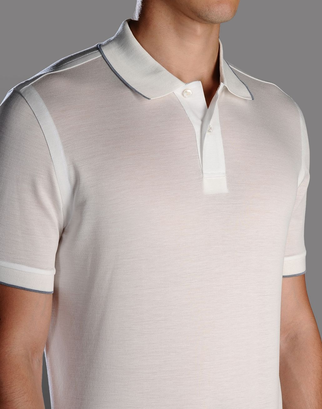 BRIONI polo shirt with contrasting details T-Shirts & Polos U d