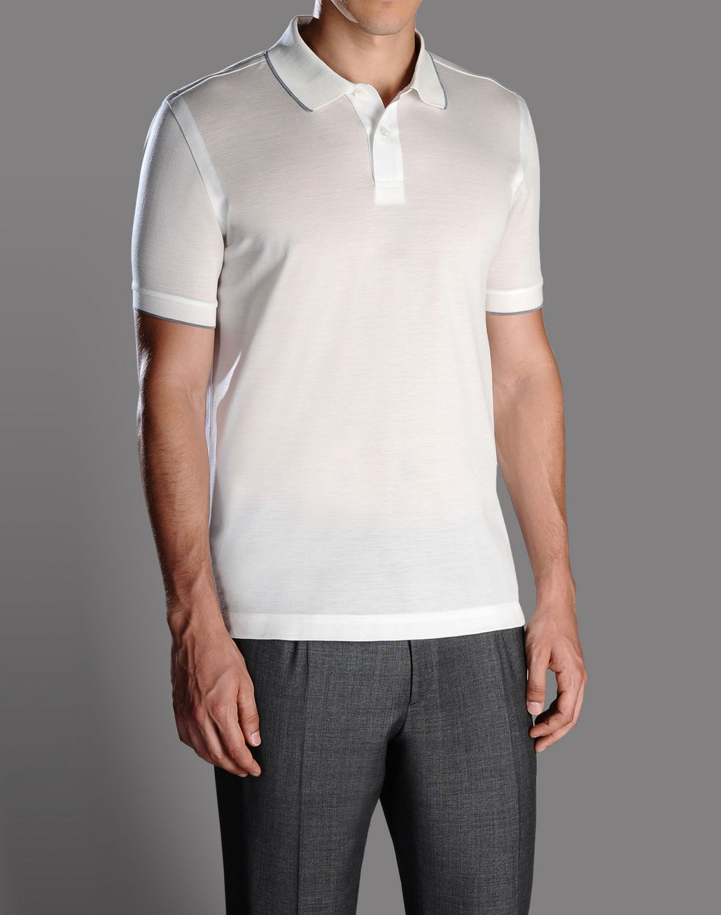 BRIONI polo shirt with contrasting details T-Shirts & Polos U f