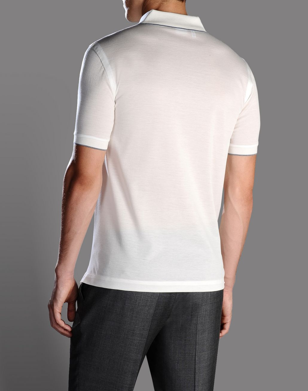 BRIONI polo shirt with contrasting details T-Shirts & Polos U r