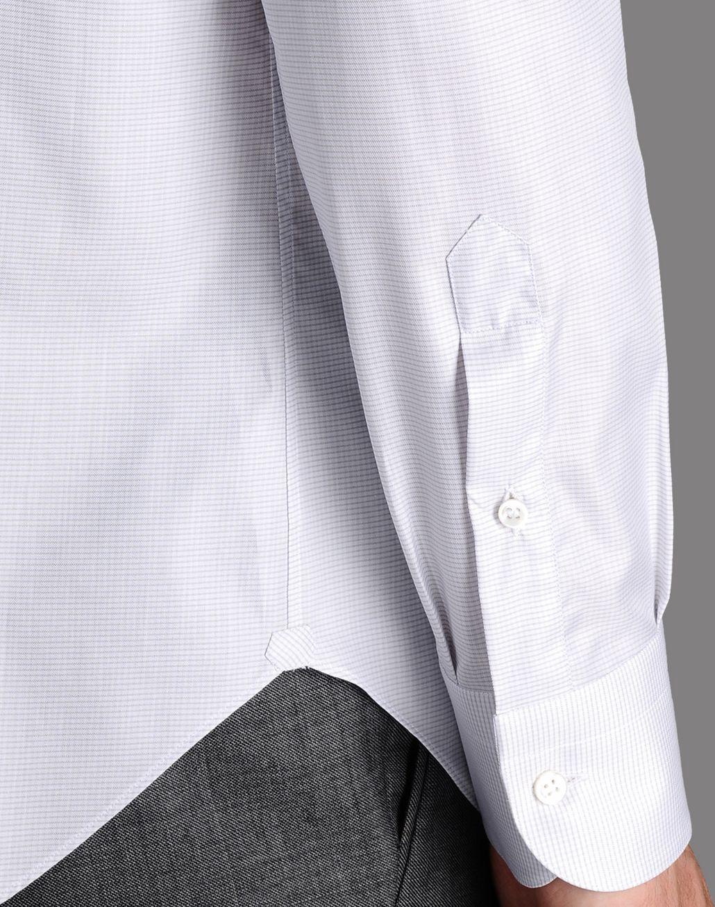BRIONI micro-check shirt Shirt U e
