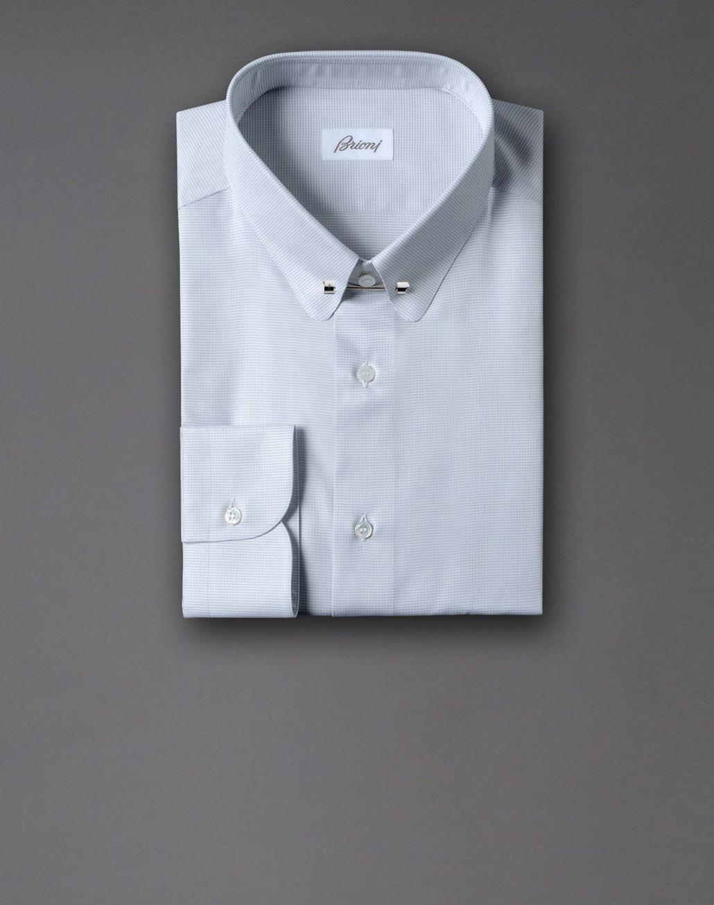 BRIONI micro-check shirt Shirt U f