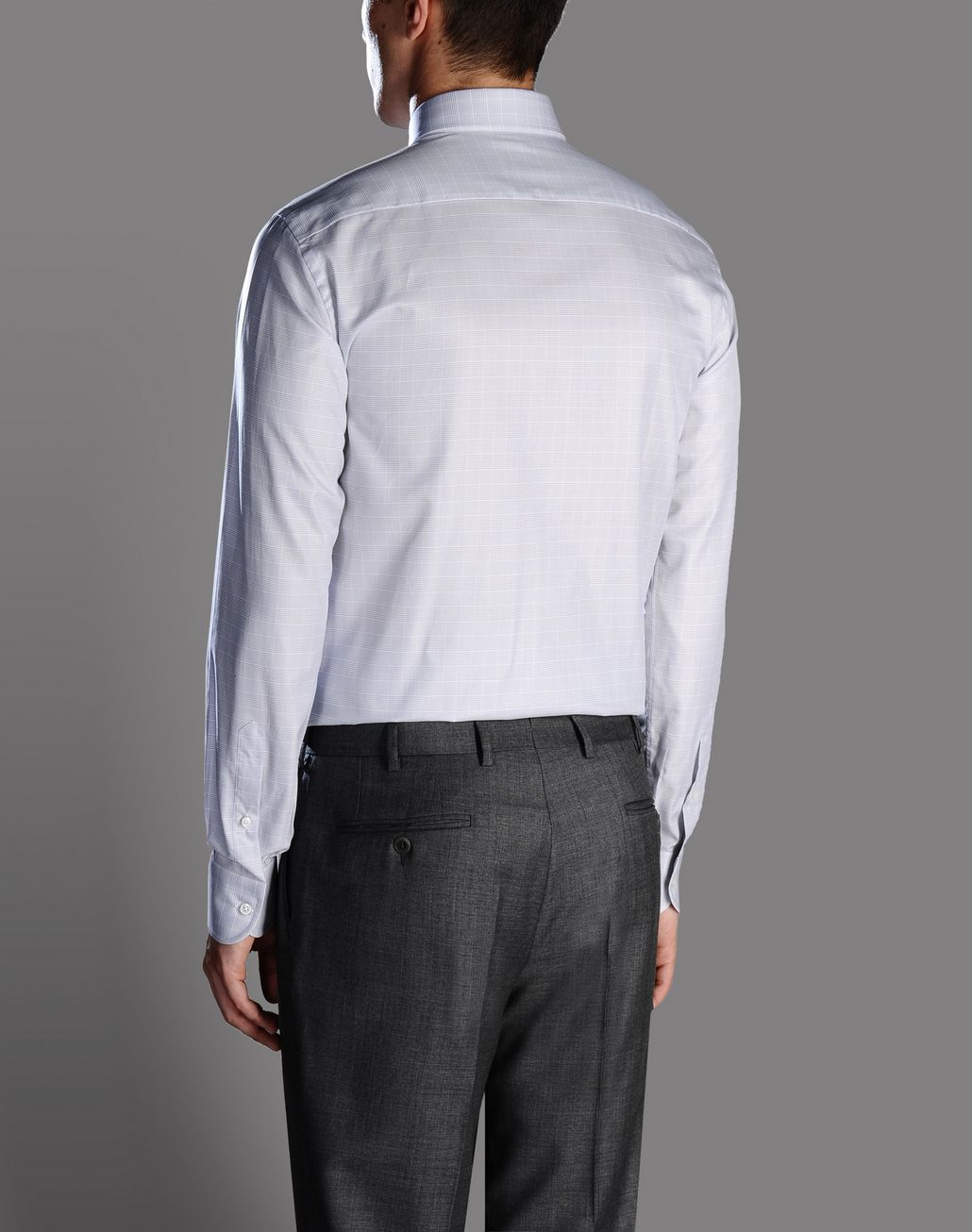 BRIONI macro-check shirt Shirt U d