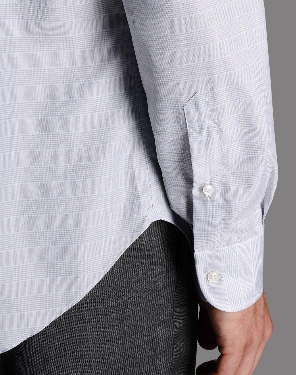 BRIONI macro-check shirt Shirt U e