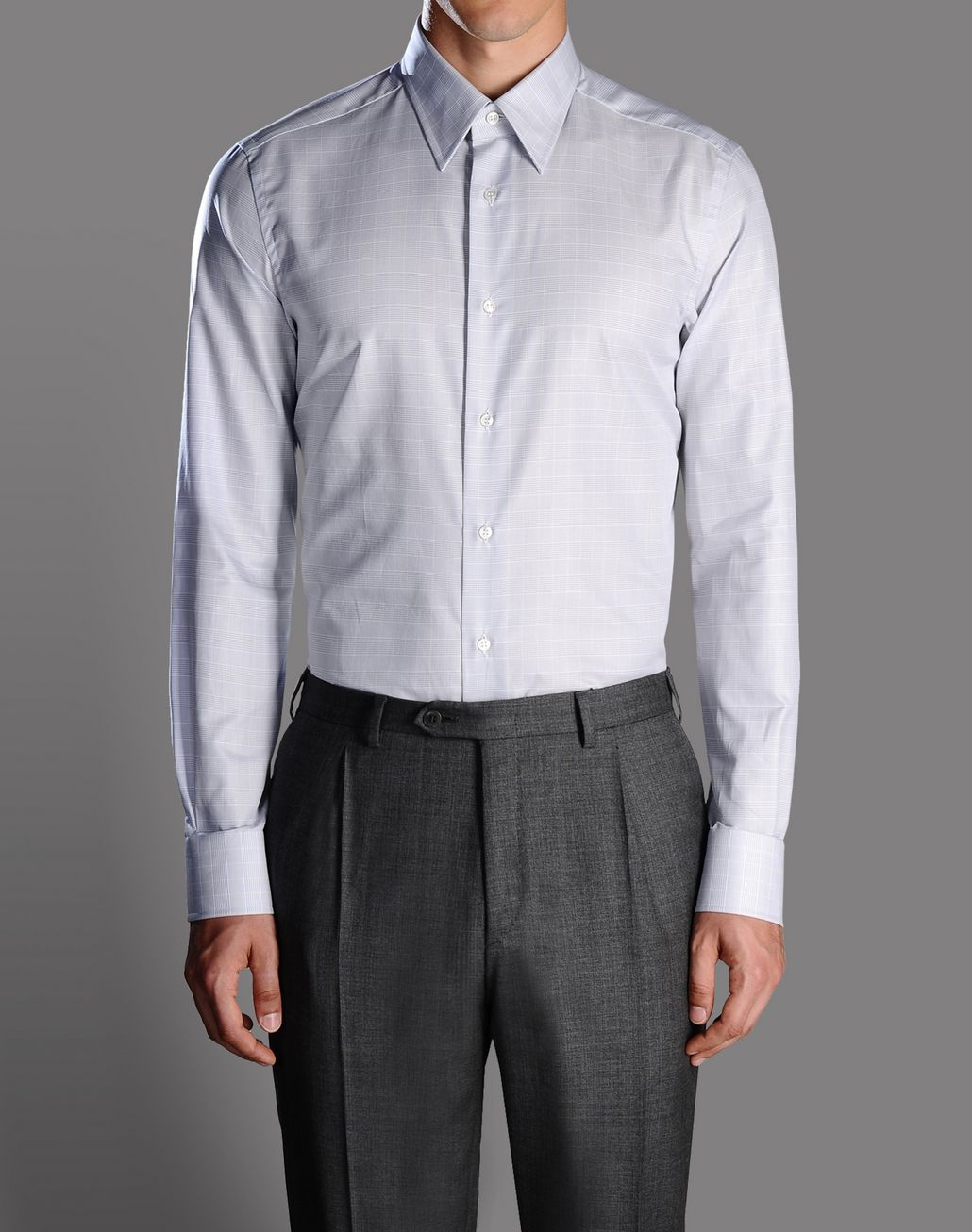 BRIONI macro-check shirt Shirt U r