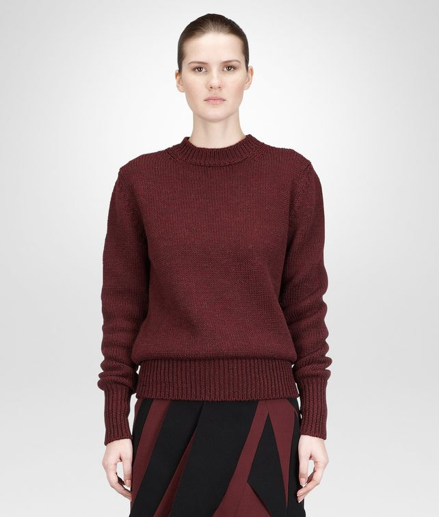 BOTTEGA VENETA AUBERGINE DRY WOOL SWEATER Knitwear or Top or Shirt D fp