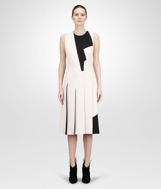 BOTTEGA VENETA PALE NERO  CREPE WOOL DRESS Dress D fp