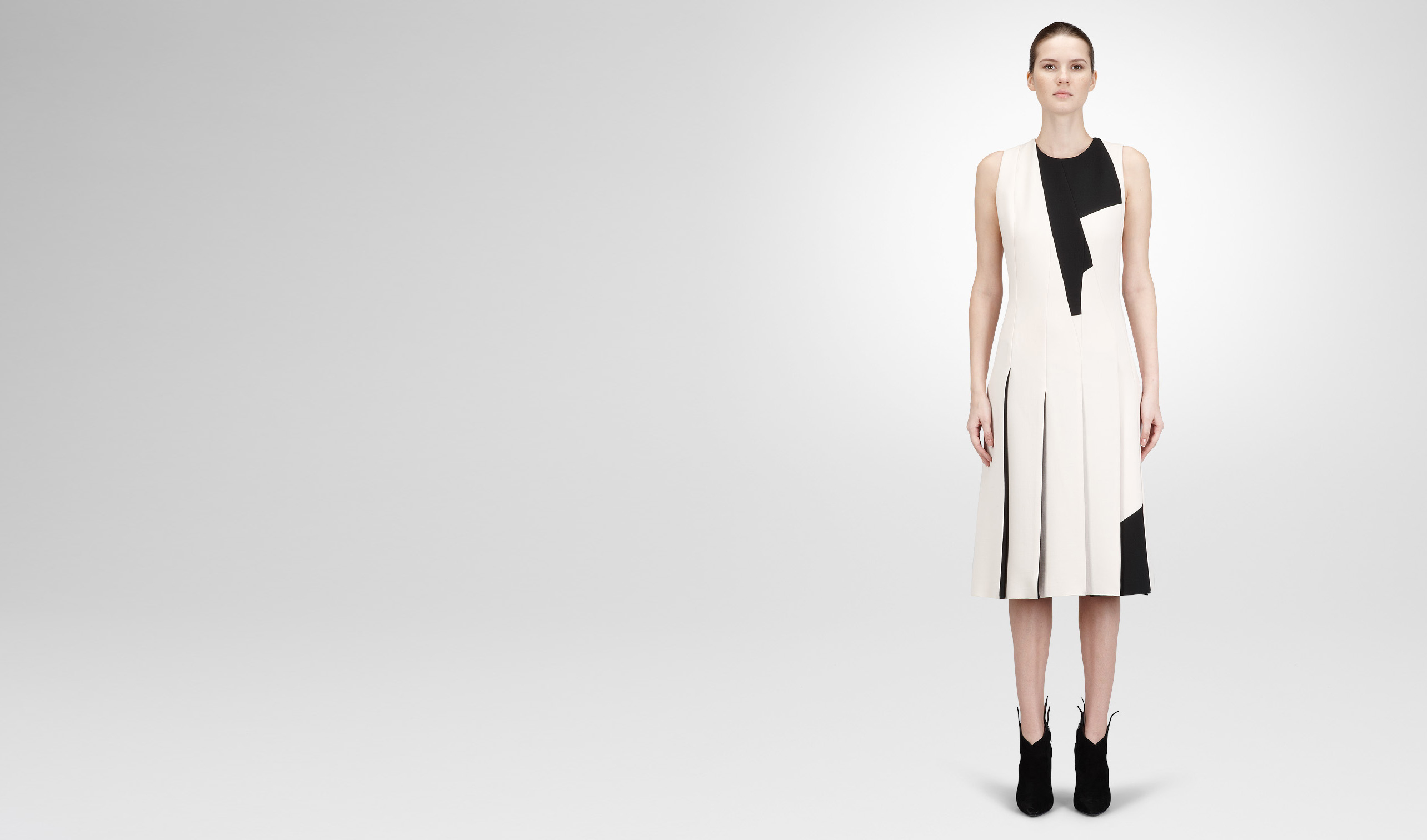 BOTTEGA VENETA Dress D PALE NERO  CREPE WOOL DRESS pl