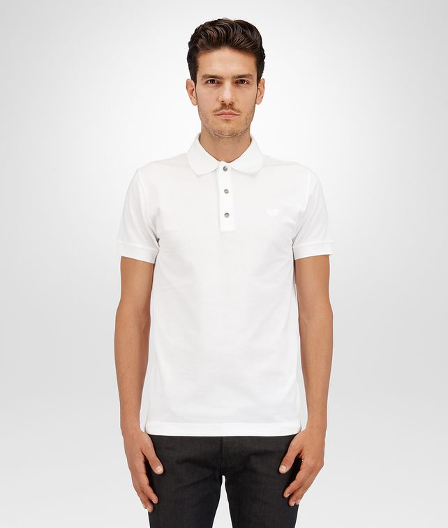 BOTTEGA VENETA POLO IN PIQUET BIANCO Polo & T-Shirt U fp