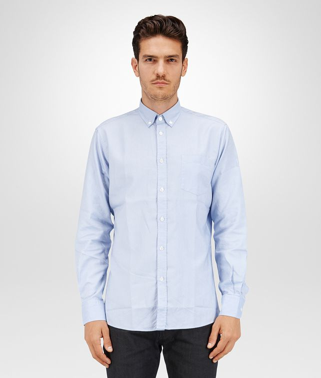 BOTTEGA VENETA SHIRT IN LIGHT BLUE OXFORD COTTON Formalwear or shirt Man fp
