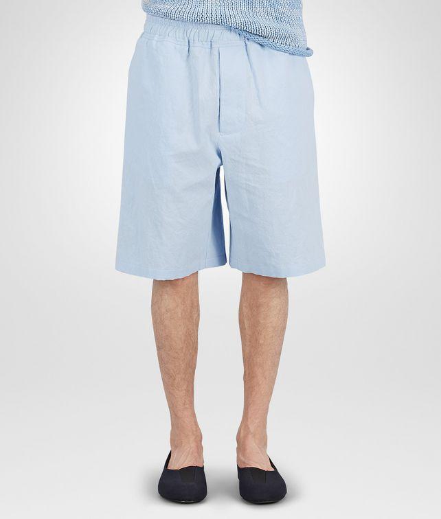 BOTTEGA VENETA WASHED CIEL CRINKLE COTTON RAMIE SHORTS  Jeans or Pant Man fp