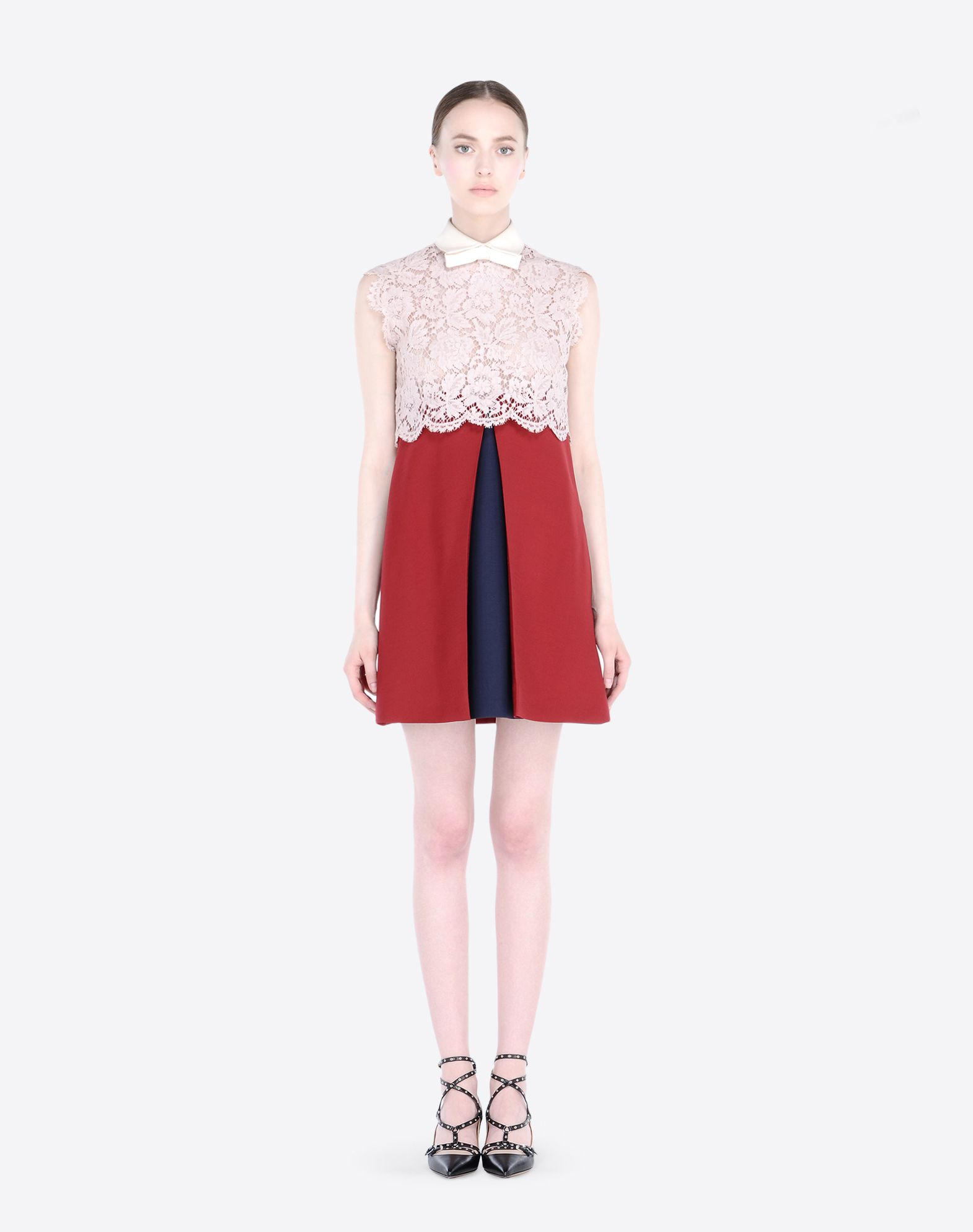 RED Sleeveless Crepe Couture Dress Spring/summer Valentino 2k7eW