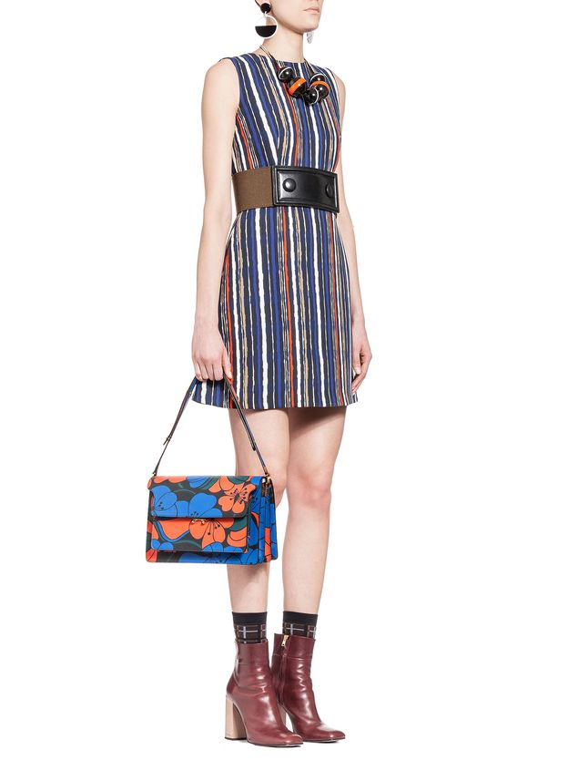 Marni Dress in double velvet Shades print Woman - 4